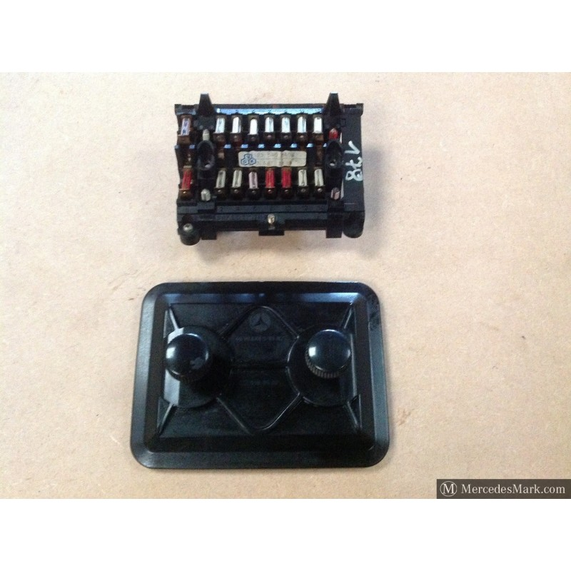 w123 ce e & te complete fuse box with cover & layout card ... german fuse box 1995 jeep yj fuse box power box and details