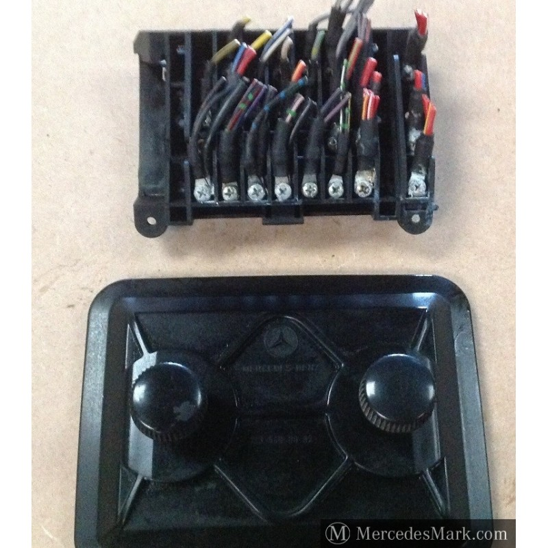 w123 ce e te complete fuse box with cover layout card in german mercedes classic