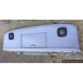 W201 Genuine Mercedes Light Grey Rear Parcel Shelf With First Aid Storage Door And Speakers 201 690 2625