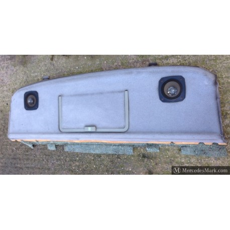 W201 Genuine Mercedes Light Grey Rear Parcel Shelf With First Aid Storage Door And Speakers