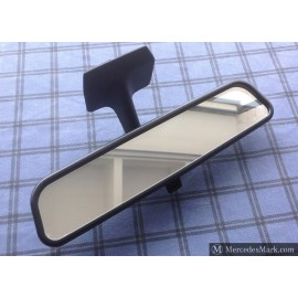 W201 Genuine Mercedes Rear View Mirror In Black