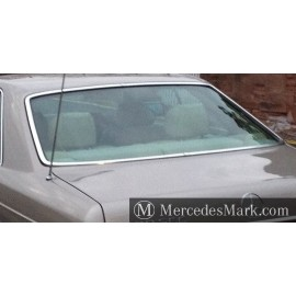 W126 SEC Coupe Heated Rear Screen Complete with Bright Trim & Rubber Seal