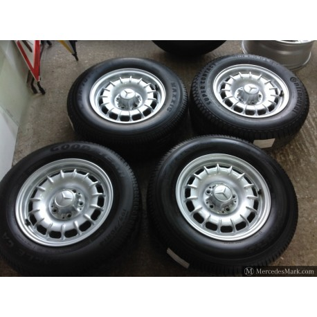 W123 W126 Refurbished Barock Mexican Hat Alloy Wheels With Tyres