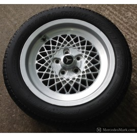 W201 W107 W123 W126 RIAL KBA Latice Style Alloy Wheel WithTyre