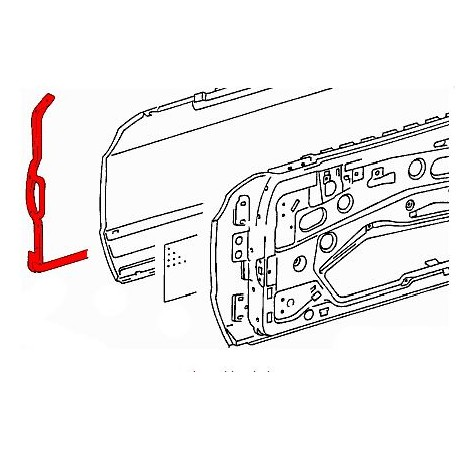 W123 DRIVERS DOOR OUTER SEAL GENUINE MERCEDES