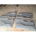 W126 Full Light Grey Leather Door Cards