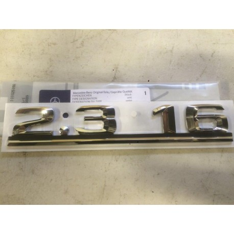 W201 Brand New Last Of Old Stock Boot Emblem Badge 2.3 16