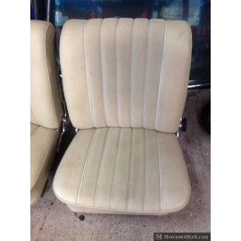 W110 190D Heckflosse Fintail Pair Of Cream MB-TEX Reclining Front Seats Left And Right