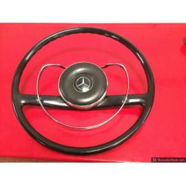 W110 190D Heckflosse Fintail Black & Chrome Steering Wheel Bakelite.