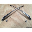 W110 190D Heckflosse Fintail Polished Stainlaee Steel Windscreen Wiper Arms and Heads