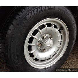 W123 & W126 Set Of Four Used Barock Mexican Hat Alloy Wheels