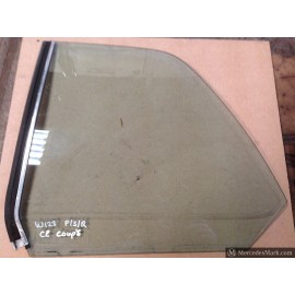 W123 CE Coupe Passenger Side Rear Quarter Glass & Vertical Seal