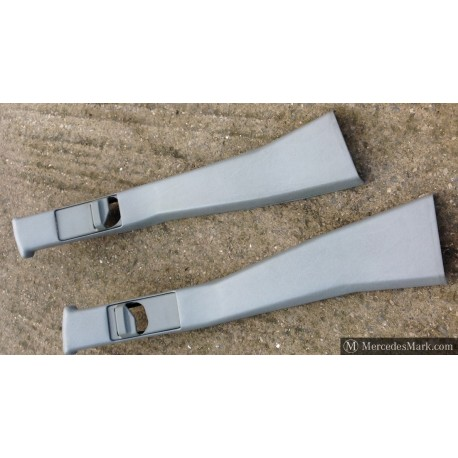 "W201 Genuine Mercedes ""B"" Pillar Trims In Light Grey Vinyl"