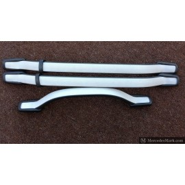 W201 Genuine Mercedes Grab Handles Set Of Three Two Tone Light Grey & Black
